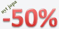 -50% alennusta